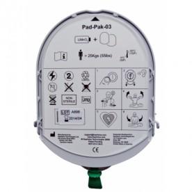 Electrode défibrillation SAMARITAN PAD + batterie