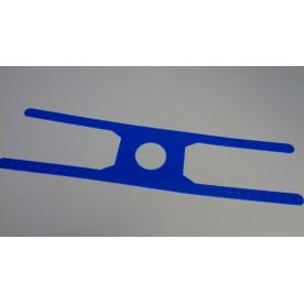 Serre-nuque silicone bleu Ped.